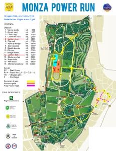 Mappa percorso Monza Power Run edizione 2014