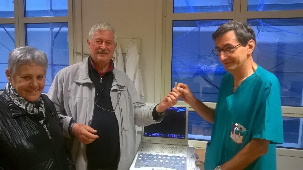 Consegna ecografo Ospedale di Monza